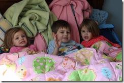 Trio in Bo's bed 2