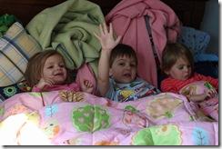 Trio in Bo's bed